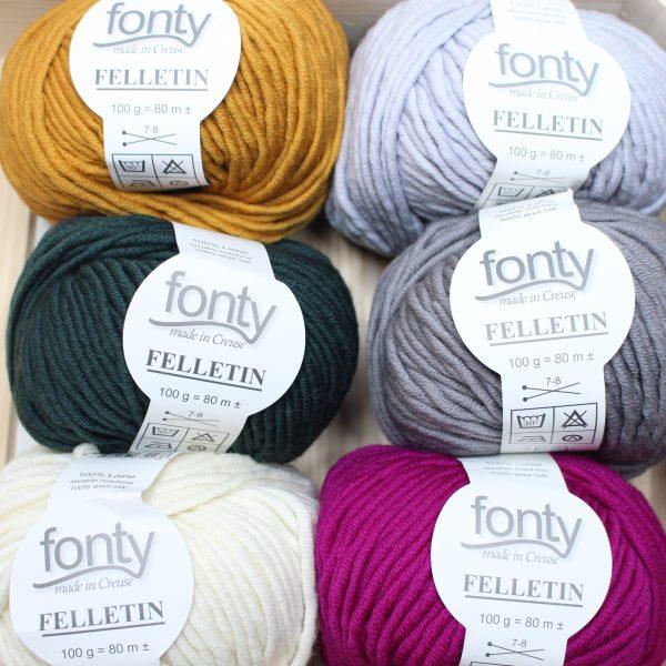 pelotes de laine Felletin de Fonty en 6 coloris