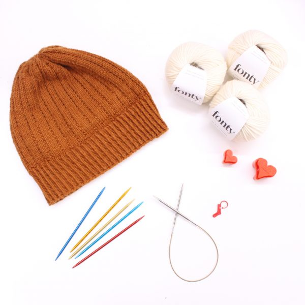 kit tricot bonnet